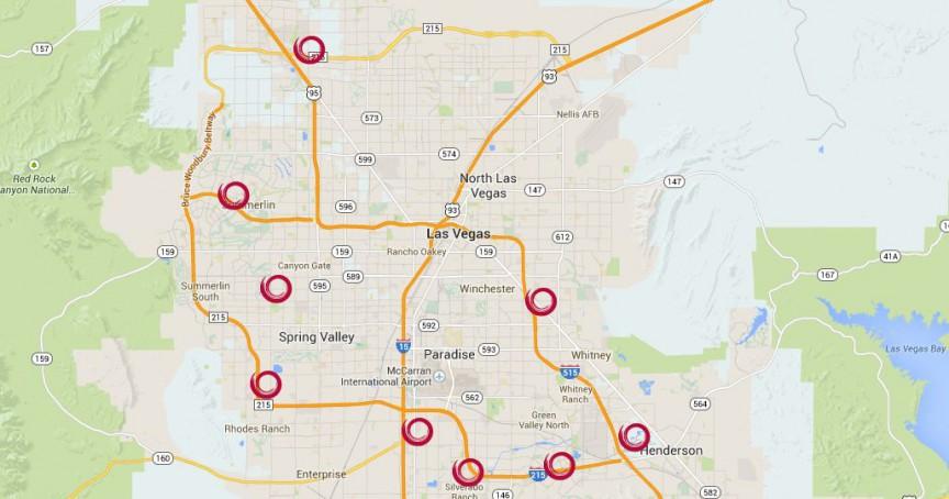 Ovation Las Vegas Apartments Locations